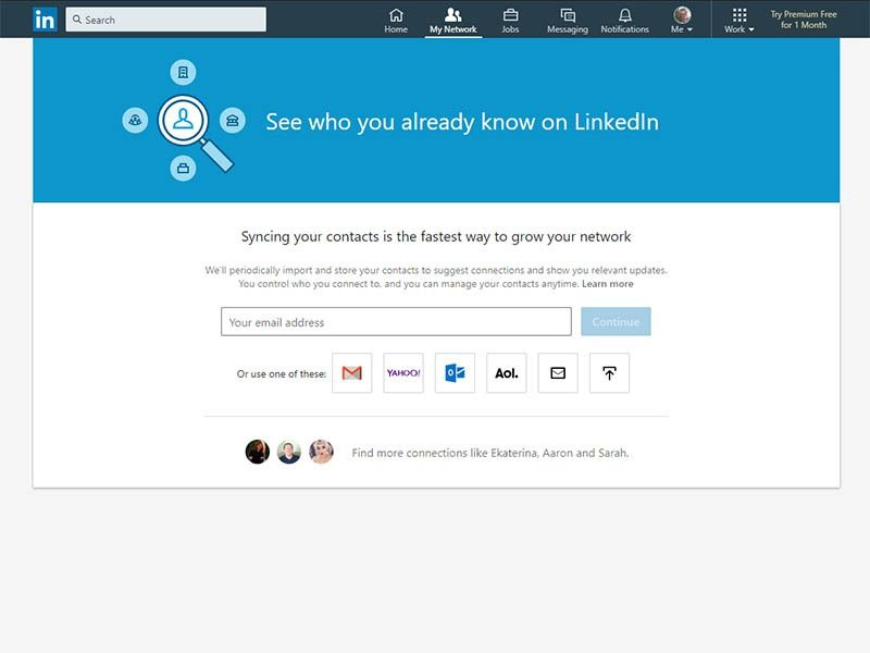 import contacts to linkedin